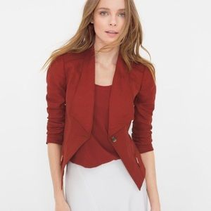 EUC Whbm Rust Orange/red blazer 2